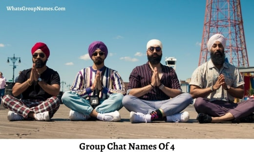 Group Chat Names Of 4