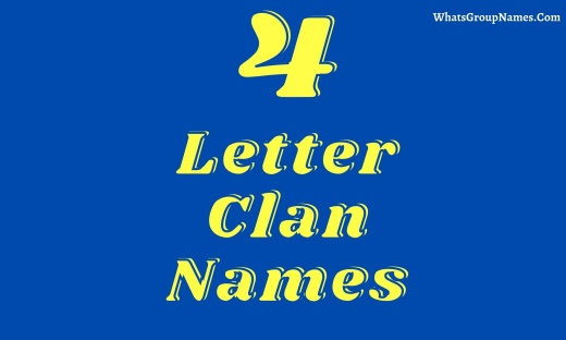4 Letter Clan Names