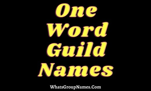 One Word Guild Names