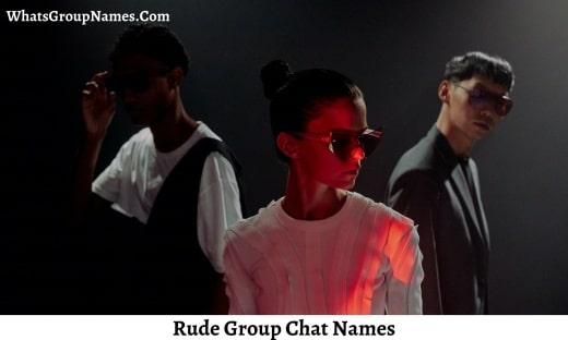 Rude Group Chat Names